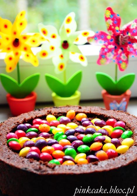 tort dla dziecka, tort z M&Ms, tort Skittles, MMs cake, Skittles cake