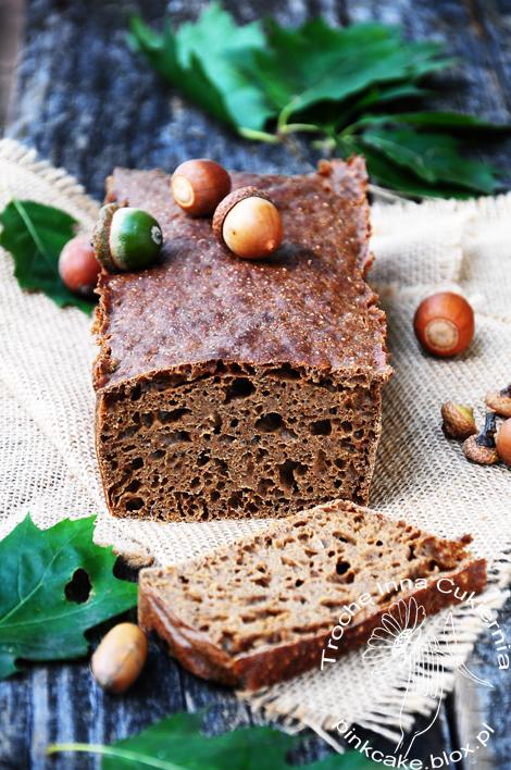 chleb z żołędzi, acorn bread, acorn flour bread, oak flour bread, chleb żołędzie
